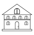 House icon outline style vector image vector image