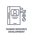 human resource development line icon concept vector image vector image