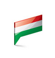 hungary flag on a white vector image vector image