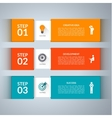 Infographic design template with marketing icons vector image vector image