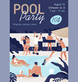 invitation template pool party with place vector image
