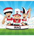 iraq football support vector image vector image