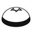 Kipa hat icon simple style
