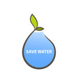 logo concept for save water vector image vector image