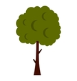Long tree icon flat style vector image vector image