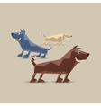 Low polygon dogs set vector image vector image