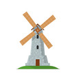 medieval stone windmill isolated icon vector image