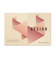modern abstract geometric a4 size cover design for vector image