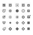 monochrome geometric symbols item marking vector image