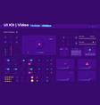 multimedia ui elements kit vector image vector image