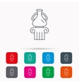 Museum icon Antique vase on pillar sign vector image vector image