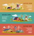 nature farm landing page templates set summer vector image