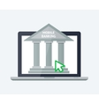 Online banking concept vector image vector image