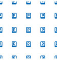 parking icon pattern seamless white background vector image vector image