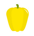 pepper icon yellow color vegetable collection vector image vector image