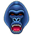 pixel angry gorilla portrait detailed isolated vector image vector image