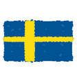 pixelated flag of sweden vector image