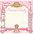 princess party template vector image