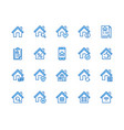 real estate flat line icons set house sale home vector image vector image