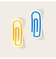 realistic design element paper clip vector image vector image