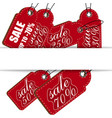 sale the price is red a set of various discounts vector image vector image