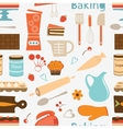 Seamless bakery pattern vector image vector image