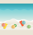seaside tropical background vector image vector image