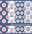set floral ethnic seamless patterns vector image vector image