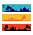 set horizontal islamic ramadan banners vector image vector image