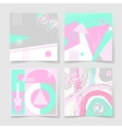 set of 4 posters with abstract trendy pattern vector image vector image