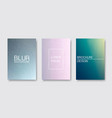 set of blur covers trendy minimal design vector image vector image