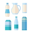 Set of Traditional Dairy Products from Milk vector image vector image