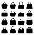 set of women bags vector image vector image
