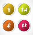 set stickers with icons vector image vector image