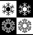 snowflake symbols icons simple black white set 9 vector image vector image