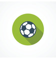 Soccer modern flat icon vector image