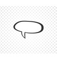 speech bubble with halftone dots on white vector image vector image