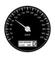 speedometer 90 km per hour black flat vector image vector image