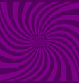 spiral design background from ray stripes vector image vector image
