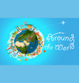 vacation travelling concept travel with detailed vector image