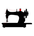 vintage sewing machine icon symbol vector image