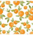 watercolor abstract orange pattern vector image vector image