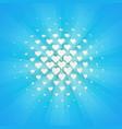 white hearts halftone design element retro style vector image vector image