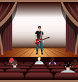 young guitarist plays on the guitar vector image