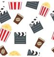 Cinema Seamless Pattern Background vector image