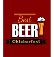German best beer banner vector image