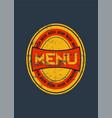 beer menu design with retro beer label vector image
