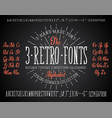 font chalk handmade - modular and hand-written vector image