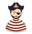 Pirate male hat icon vector image
