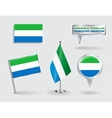 Set of Sierra Leone pin icon and map pointer vector image